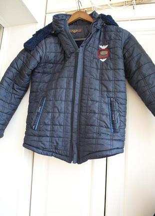 Зимняя куртка на мальчика до 142см
