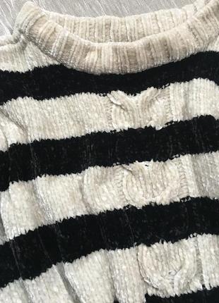 Крутой свитер джемпер оверсайз бархатный плюшевый пуловер miss etam
