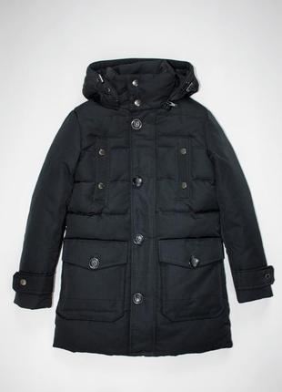 Пуховик куртка партка mixture италия для мальчика темно-синий 7-9 лет