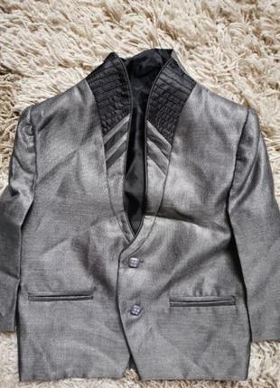 Пиджак  удлинённый стальной dear kids индия