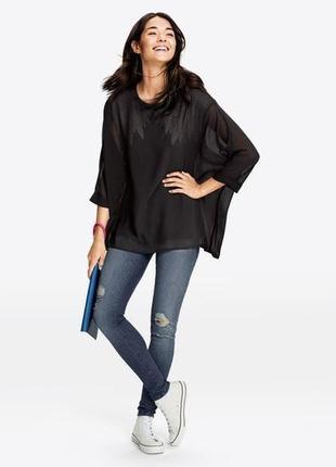 Комбинированная блуза оверсайз esmara  heidi klum  р. xs, l европ.