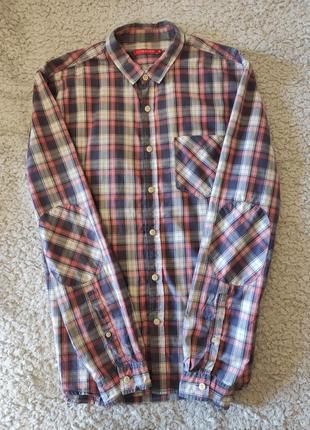 Мужская рубашка в клетку ostin