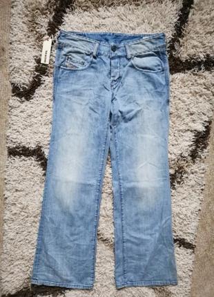 Крутые джинсы клеш  голубые diesel vixy