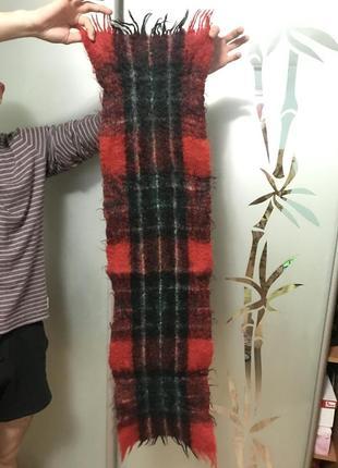 Мохеровый мужской шарф тёплый на зиму