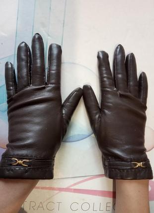 Стильные, брендовые, женские перчатки. бренд bhs. цвет коричневый.