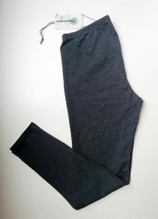 Лосины для повседневной носки меланжевые серые