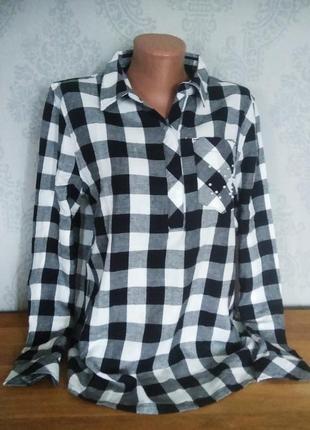 Фланелевая рубашка/блуза с жемчужинками esmara германия.