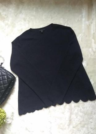 Стильный шерстяной свитер джемпер