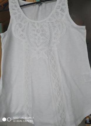 Блуза белая летняя турция