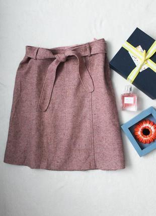 Теплая шерстяная юбочка от h&m, размер l-xl