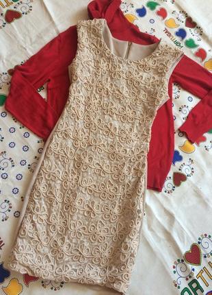 Нарядное платье на новый год платье футляр с кружевом