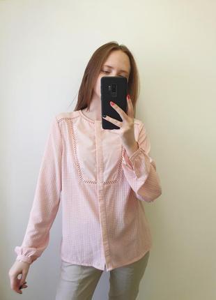 Ніжно рожева блуза