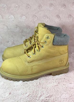 Ботинки timberland 6 in premium высокие детские кожаные 29,5 размер