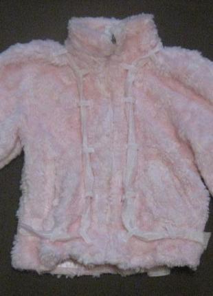 Шубка - курточка на девочку 2-5 лет. шикарная розовая шуба. бюджетно