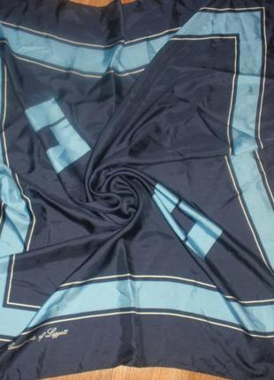 Базовый интересный шелковый платок 100% шелк /87*88 см