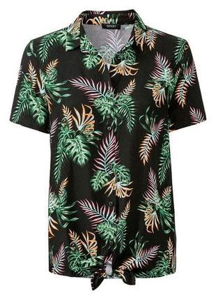 Новая блуза esmara с модным узлом на подоле р. м