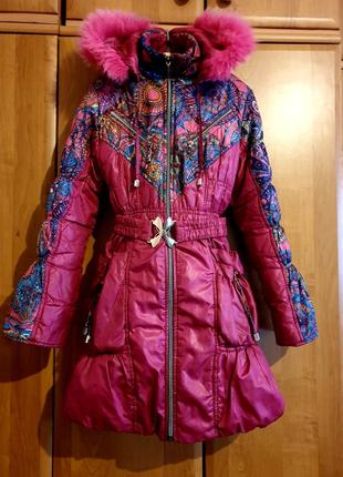 2в1 пальто куртка пуховик зима весна