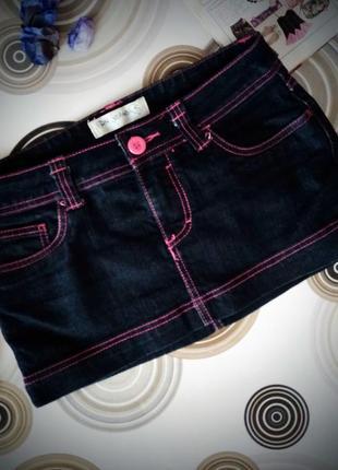 Джинсова спідниця terranova/ мини юбка джинсовая