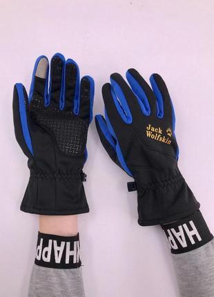 Стильные,теплые мужские перчатки jack wolfskin