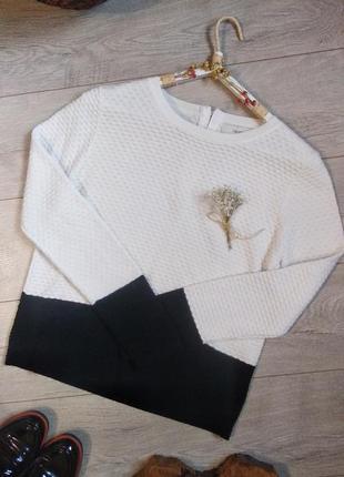 Стильный свитерок кофта джемпер белое-черное next