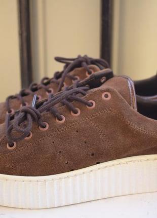 Замшевые туфли слипоны криперы bronx р.40 мокасины кеды