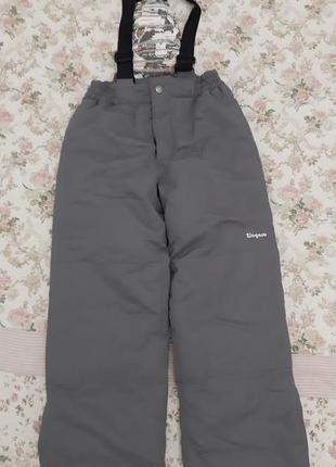 Комбинезон, тёплые зимние брюки на мальчика 10 лет на рост 140