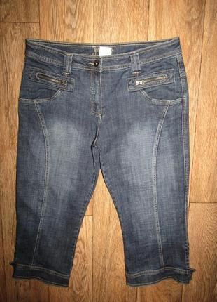 Джинсовые капри р-р хл-16 бренд jeans fitt