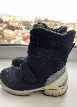 Ecco biom hike зимние ботинки goretex 27 - размер , синие замш