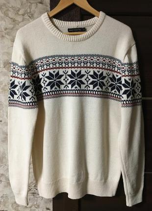 Стильный свитер,джемпер в орнамент french connection