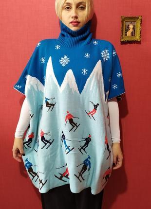 Винтажный залихватский свитер лыжника)