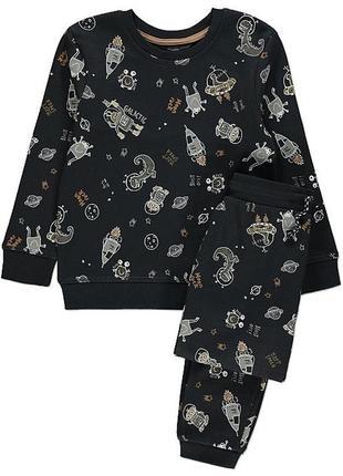 Костюм george на флисе кофта штаны с начесом на мальчика хлопчика на баечке свитшот
