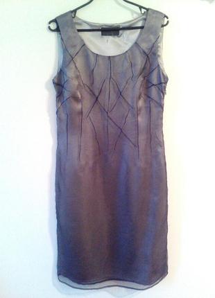 Вечернее платье, серое платье, праздничное платье