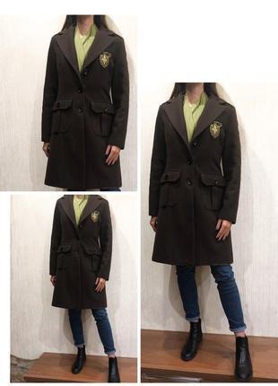 Пальто шерсть зимнее с утеплением на зиму, холодную осень