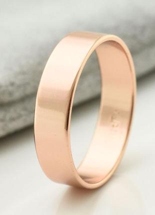 Кольцо обручальное размер 15, ширина 4 мм, позолота xuping