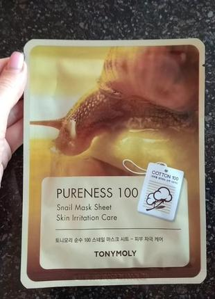 Tonymoly pureness 100 mask sheet 21m тканевая маска для лица