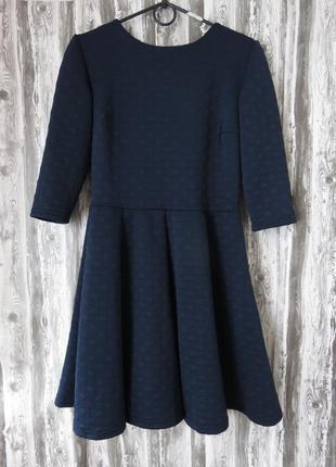 Платье с длинным рукавом синего цвета размер 46-48  большой выбор модной одежды