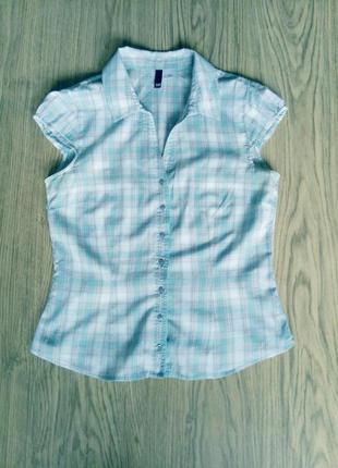 Летняя легкая блуза из натуральной ткани, р.38