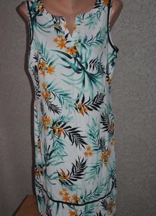 Льняное платье george 12 разм