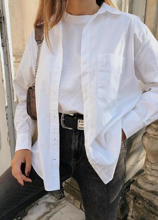 Новая женская рубашка белая блузка белая кофта