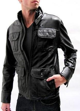 Кожаная куртка на тонком утеплителе g-starraw p.xl