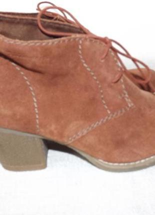 Ботинки ботильоны замша tamaris