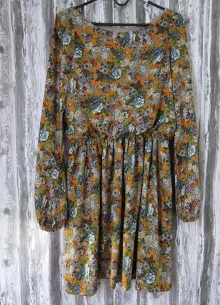 Нежное платье с длинным рукавом размер 44-46  большой выбор модной одежды
