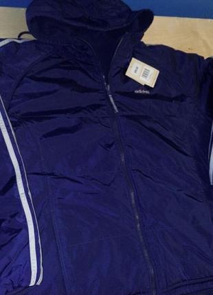 Куртка теплая для бега adidas двухсторонняя