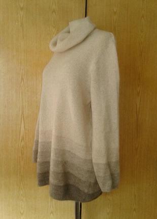 Мохеровый свитер бежевый, 3 xl.