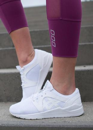 Очень легкие и удобные кроссовки asics gel-lyte komachi белые 26см