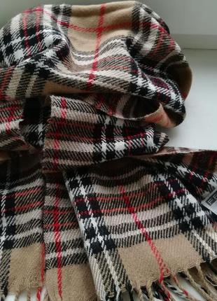 Классический шарф палантин fellini в стиле burberry