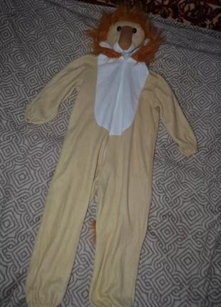 Карнавальный костюм льва лев foxxeo рост 104 на 4 года