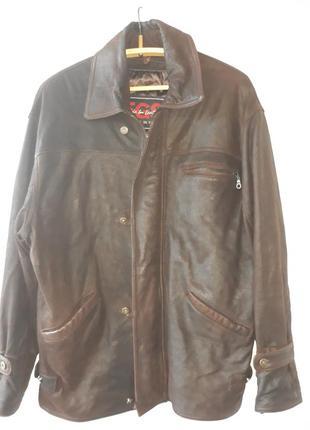 Куртка кожаная крек