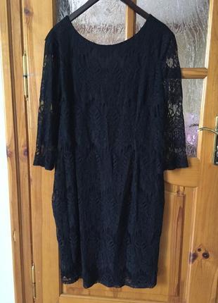 Кружевное платье батал marks & spenser