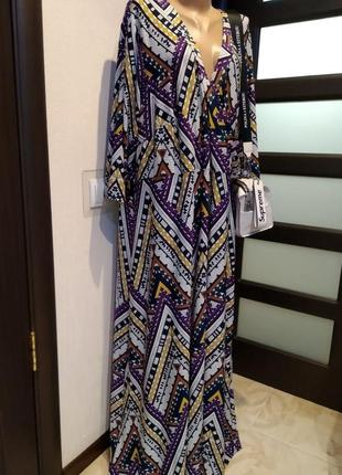 Вечернее стильное длинное платье большого размера